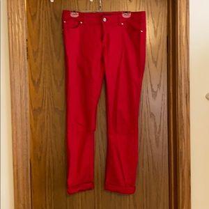 Red denim pants size 6